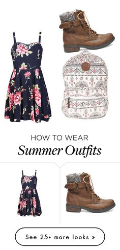"""""""My First Polyvore Outfit"""" by kaileehiggins on Polyvore featuring Billabong, Steve Madden and Ally Fashion"""