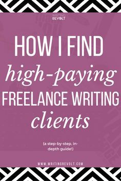 Wondering how to become a freelance writer and make money writing online? It's all about getting high-paying clients. This post will tell you everything you need to know about how to find clients as a freelance writer. Check it out! www.writingrevolt...  Have a big network of executives and HR managers? Introduce us to them and we will pay for your travel. Email me at carlos@recruiting...
