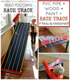 DIY Race Track via View From The Fridge
