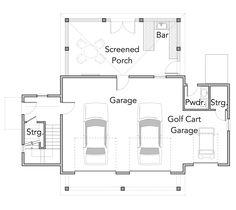 garage floor plan (lose powder, make more storage)