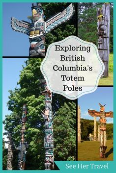 Visit another side of British Columbia Canada! By searching for the most amazing places to see totem poles, get off the BC tourist trail and experience an entirely different side to Canada's most visited province! Travel Guides, Travel Tips, Canada Destinations, Canadian Travel, Totem Poles, Ultimate Travel, Solo Travel, British Columbia, Cool Places To Visit