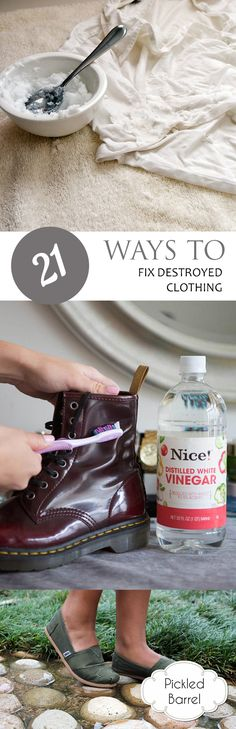 How to Fix Ruined Clothing, How to Fix Clothing, Clothing Hacks, Removing Stains from Clothing, Laundry, Laundry Hacks, Life Hacks, Tips and Tricks, Popular Pin