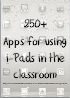Over 250 apps for i-Pad use in the classroom.  All educational, suitable for grades K-6 and special needs.
