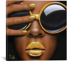 iCanvas Goldilips Canvas Art