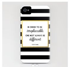 Quotes Coco Chanel  society6.com Iphone 4/4s case