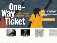One-Way Ticket: Jacob Lawrence's Migration Series and Other Works at MoMA  April 3–September 7, 2015