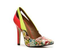 LOVE these pumps...such fun print and neon colors!!  $59.95