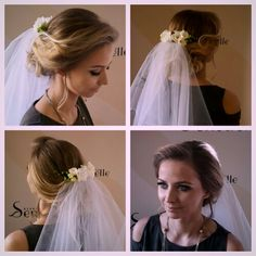 Wedding updo romantic blonde hair