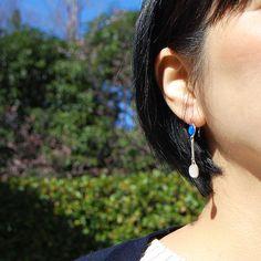 #bluechalcedony #pinkquartz #silver #earrings by #helenarohner