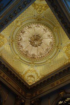 The dome at Teatro Colon, magnificent.