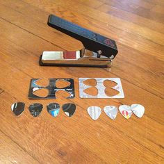 Guitar pick puncher - a punch to make guitar picks (by George Williams) Works great.