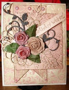Birthday shabby chic by quarteronly - Cards and Paper Crafts at Splitcoaststampers