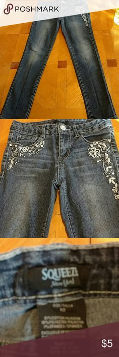 Squeeze jeans Squeeze new York jeans. Girls size 10. Excellent condition. Smoke free home squeeze Bottoms Jeans