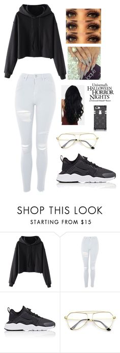 """Untitled #470"" by brie-karitsa-luciano on Polyvore featuring Topshop, NIKE and Universal"