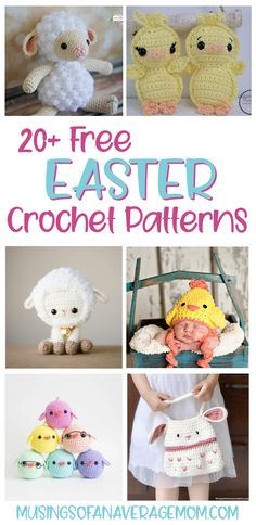More than 20 free adorable Easter crochet patterns including chicks, lambs, hats and more! Free Crochet, Crochet Hats, Easter Crochet Patterns, Best Blogs, Lambs, Crochet Animals, Crafty, Diy, Knitting Hats