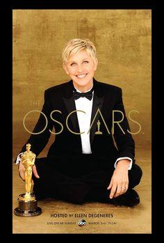 Dailies | Ellen DeGeneres Suits Up For Oscars Poster, Promos (Photos) : thewrap #Oscars2014