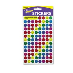 Trend SuperSpots and SuperShapes Sticker Variety Packs, Sparkle Smiles, 1,300/Pack, Multi Color