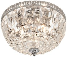 James R. Moder Handcut Crystal Silver Ceiling Fixture - $230.00, silver and only $30.00 over budget.