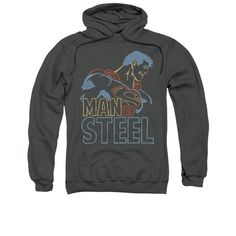 Superman - Colored Lines Adult Pull-Over Hoodie