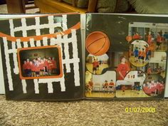 Basketball scrapbook