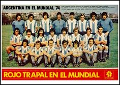 EQUIPOS DE FÚTBOL: SELECCIÓN DE ARGENTINA en el Mundial 1974 Argentina Football Team, Argentina Team, Argentina National Team, Messi, International Football, School Football, Team Photos, Baseball Cards, Soccer Teams