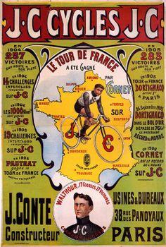 1906 TOUR DE FRANCE SANS ALSACE LORRAINE Vintage Advertising Posters, Vintage Advertisements, Vintage Ads, Vintage Posters, Bike Poster, Poster Ads, Cycling Art, Cycling Bikes, Bicycle Brands
