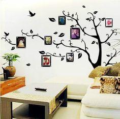 ... Frame Black Tree Removable Decal Room Wall Sticker Vinyl ART | eBay