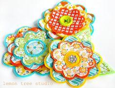 Fresh+Picked+Flowers+Dana++Handmade+Fabric+and+by+LemonTreeStudio,+$11.95