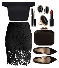 """""""Untitled #3014"""" by natalyasidunova ❤ liked on Polyvore featuring Chicwish, Boohoo, Alexander McQueen, Jack Vartanian, Anne Klein and NARS Cosmetics"""