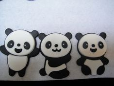 Your place to buy and sell all things handmade Panda Bear Cake, Panda Bears, Bear Cakes, Fondant Cupcake Toppers, Royal Icing Decorations, Cake Ideas, Mickey Mouse, Cute Animals, Sweets