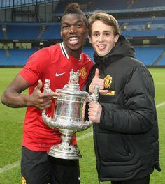 Paul Pogba and Adnan Januzaj - youth cup winners for MUFC