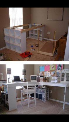 Homemade craft desk!