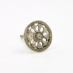 The Celtic Cupboard Knob | Round Silver Handle | abodent.com