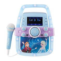 4f47d62b5bc Disney - Frozen Karaoke Set - Anna Elsa Olaf - Microphone and Flashing  Lights - AUX