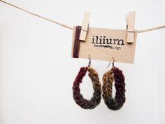 orecchini fatti a maglia idea regalo donna ragazza amica monachella nichel free pezzo unico originale artigianale Natale compleanno di ZenithLab su Etsy