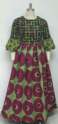 10 Stunning Electric Bulb Ankara Outfits You Cannot Resist on Mondays Greetings! Here are 50 Creative, Stylish and Dazzling Ankara Styles 2018 For Inspiration on how to style your Ankara prints and rock it. African Fashion Ankara, Latest African Fashion Dresses, African Print Fashion, Africa Fashion, Long African Dresses, African Print Dresses, African Attire, African Wear, African Traditional Dresses