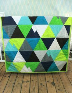 Custom Geometric Triangle Mountain Quilt by TheButtercupBoutique, $150.00