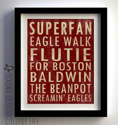 @Courtney College pride. Boston Subway Scroll Art Print by texowadesigns on Etsy, $25.00