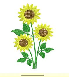 Machine embroidery Sunflowers 1-6 by IvanaStudio on Etsy https://www.etsy.com/shop/IvanaStudio?ref=hdr_shop_menu