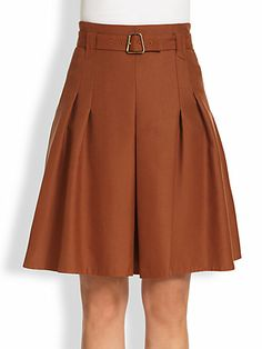 Akris - Belted Pleated Skirt - Saks.com