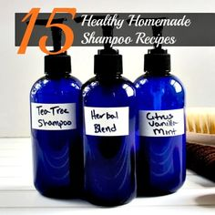 15 Healthy Homemade Shampoo Recipes, Plus a website full of other eco-friendly ideas