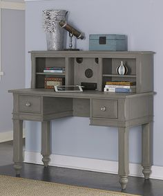 Loving this Stone Lake House Writing Desk & Hutch on #zulily! #zulilyfinds