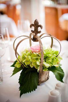 pretty crown table centerpiece