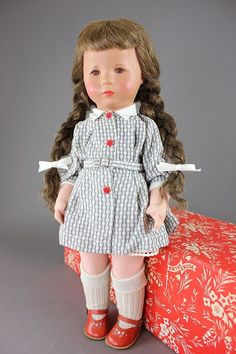 "18"" Vintage KATHE KRUSE Doll in box, Monica XII, 1960, US Zone"
