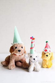 Every party has to have a hat. Whether it's for a toy animal parade, pets, pretend play or you: making Paper Paper Party Hats is a fun and simple way to personalise a party and to be creative. Why are we sharing the Pet Party celebrations today? It's Henry's Birthday. To learn how to make