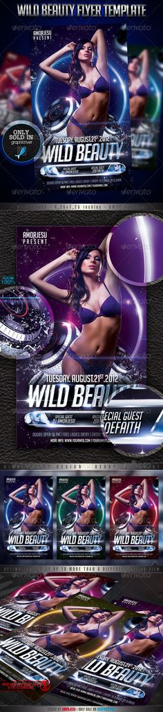 Wild Beauty Flyer Template #GraphicRiver Wild Beauty Flyer Template Sexy, Glamour, Exclusive and More Sensation Party.. PSD FEATURE 4 × 7 with .25 bleed 300 DPI CMYK Quick and Easy to edit Editable text layers Fully Layered With guidelines Smart Object Editable colors Optimization can be up to more than 6 different design view FONTS Big Noodle Titling INCLUDED IN THE DOWNLOAD FILE 1 PSD file HELP .txt VIDEO TUTORIAL HOW TO EDIT FLYER IMAGES MODEL ARE NOT INCLUDED IN THE FILE DOWNLOAD Thank…