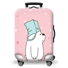 Colorful Washable Travel Luggage Protector Luggage Suitcase Cover Fit Inch Bright and Cute Luggage Cover