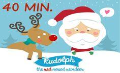 40 minutes of Christmas music for kids.  Perfect for preschool and kindergarten.  #christmassongs #preschool #kindergarten