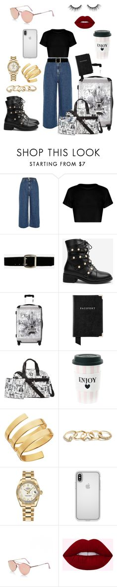 """""""Untitled #119"""" by aboshanablama ❤ liked on Polyvore featuring beauty, River Island, Express, IKASE, Aspinal of London, Brighton, Miss Étoile, Lana, GUESS and Rolex"""