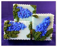 Floral Design soap by Katrina of Sego Lily Soap